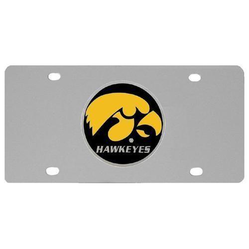 Ncaa Iowa Hawkeyes Steel License Plate Iowa Hawkeyes Iowa Steel
