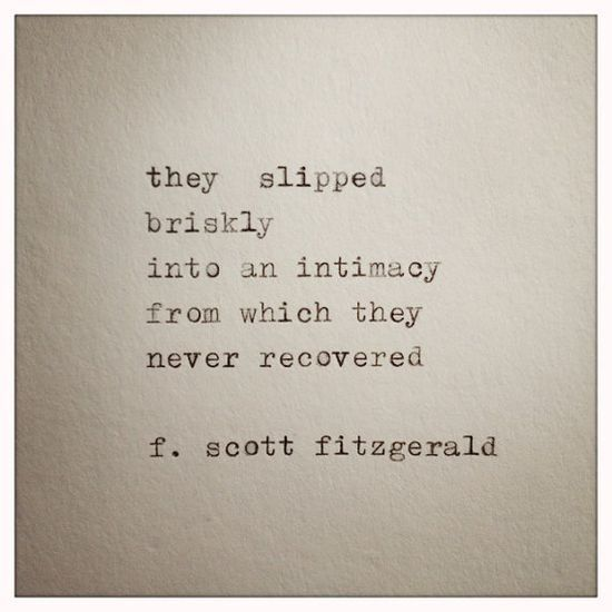 Famous Quotes Collection: F. Scott Fitzgerald Love Quote Made On Typewriter by farmnflea, $9.00: