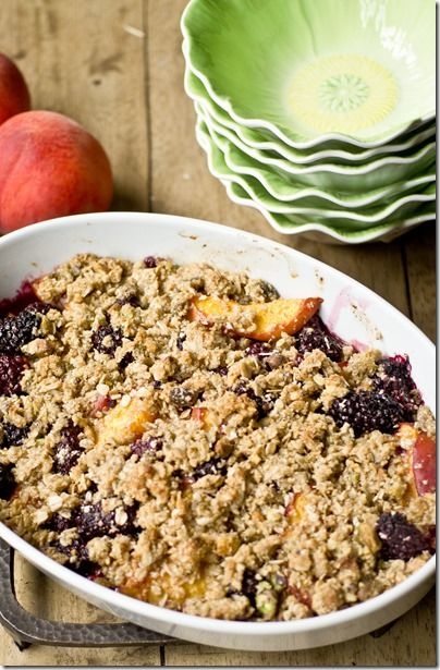 Blackberry, Peach and Pistachio Crisp {Gluten-free} from ...