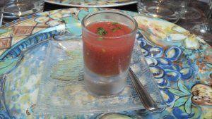 Gaspacho de tomates / Le Jardin d'Hiver de la Bertelière - St Martin du Vivier (avis restau complet sur le blog)