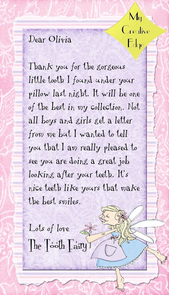 Tooth fairy letters and certificates fairies tooth for Fairy letter ideas