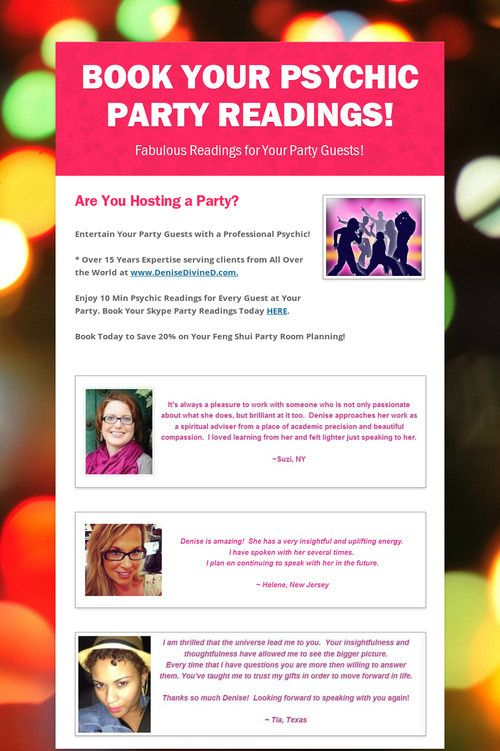 Party Tips - Party Ideas - Bachelorette Party - Wedding Reception - Birthday Party - Graduation Party - Book Your Psychic Party Readings ~ Click to Discover More at the Link...