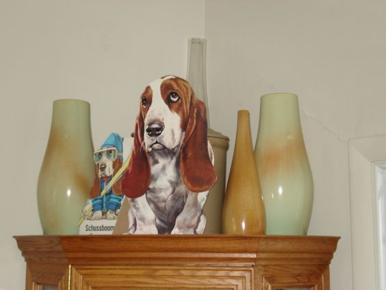 Red Wing art pottery vases.