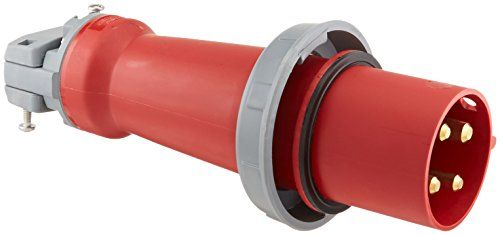 Hubbell Hbl4100p7w Pin And Sleeve Iec Plug 3 Pole 4 Wire 100 Amp 3 Phase 480v Watertight Plugs Pole Wire