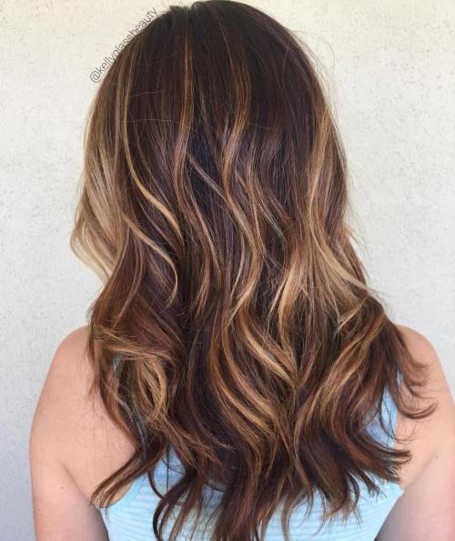 Haare highlights braune blonde Blonde strähnen