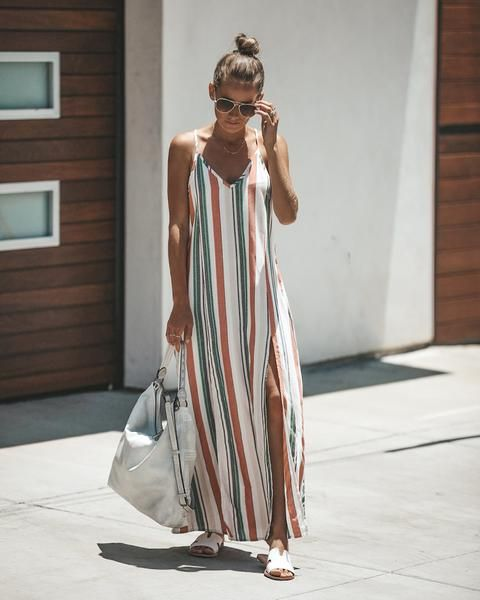 Orabelle Striped Maxi Dress
