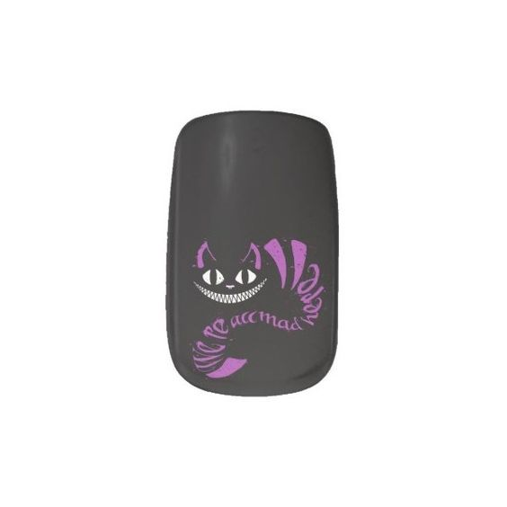 We're All Mad Here Cheshire Cat Minx?« Nail Art ($22) ❤ liked on Polyvore featuring beauty products, nail care and nail treatments