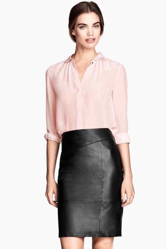 Falda de piel | H&M