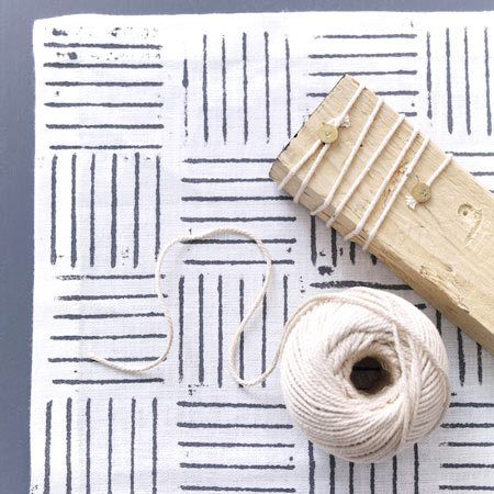 Stoff bedrucken - bunte Geschirrtücher, Taschen etc. - kordelband  Rezept