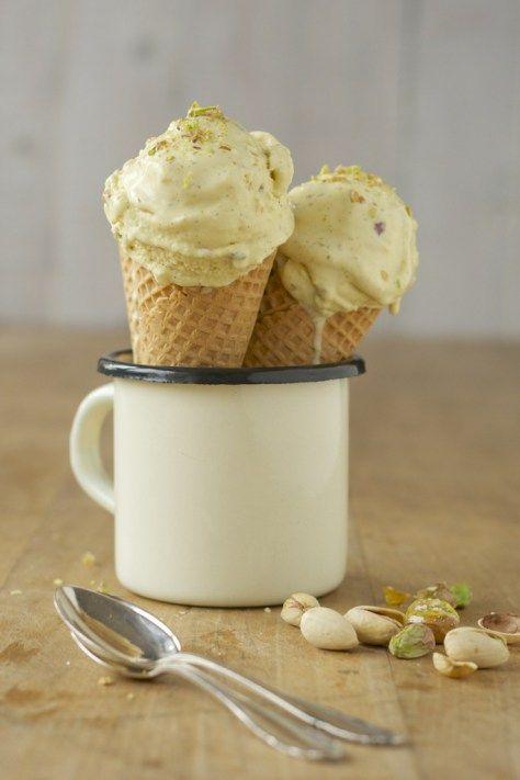 Pistazien-Vanille-Eiscreme - das allerbeste Eis was es gibt!