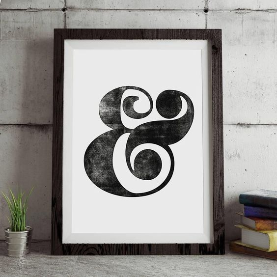 Ampersand http://www.amazon.com/dp/B016DN3AUY word art print poster black white motivational quote inspirational words of wisdom motivationmonday Scandinavian fashionista fitness inspiration motivation typography home decor