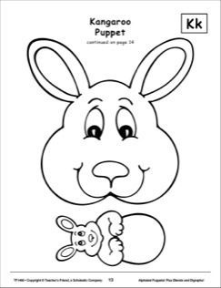 Pinterest the world s catalog of ideas for Kangaroo puppet template