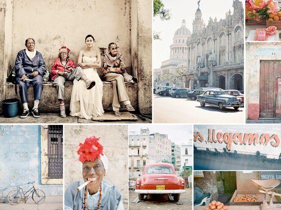 {cuba} retro vintage wedding in Cuba with red details