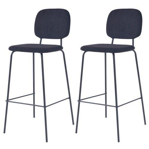 Chaise De Bar Jade Noire H75cm Lot De 2 Chaise Bar Chaise Et Bar