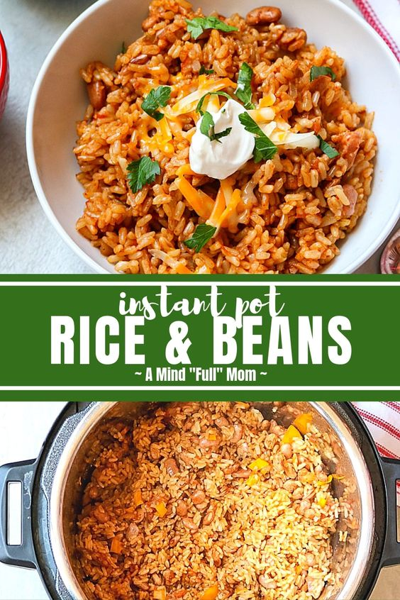 Rice and Beans for Instant Pot Dump Dinner
