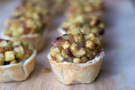 Golden Raisin Apple Stuffing Cups   - Healthy Holiday Recipe