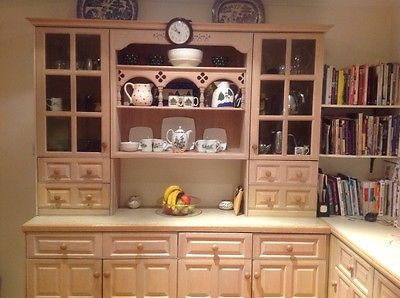 Magnet Old English Limed Oak kitchen incl Dresser - will sell ...
