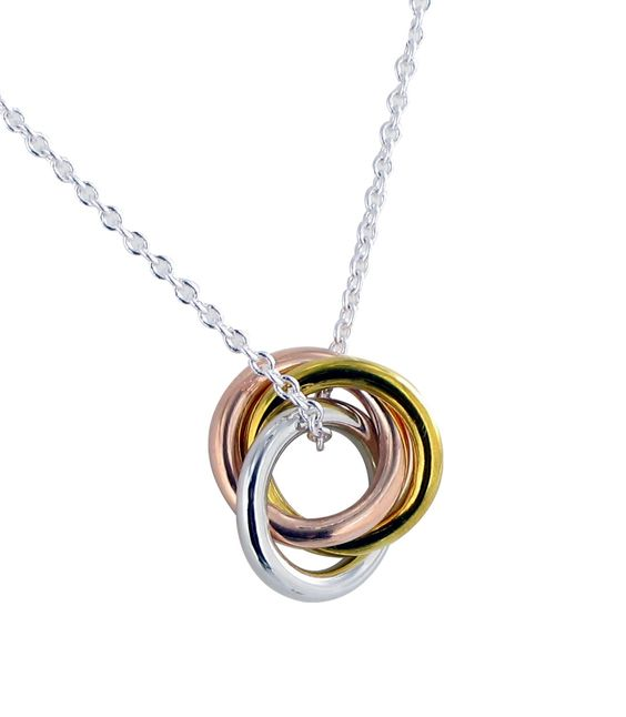 Soap Opera Jewelry has Robin Scorpio's 3-Ring, Tri-Color, Pendant Necklace from General Hospital!