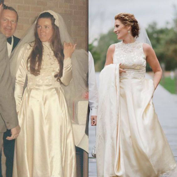 The Same Dress Worn 45 Years Later. Although, The Dress Is