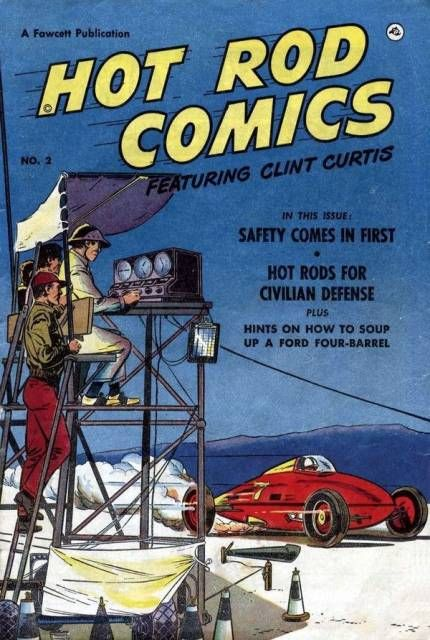 Belly-tanker on the cover of Hot Rod Comics...Fawcett early 50's
