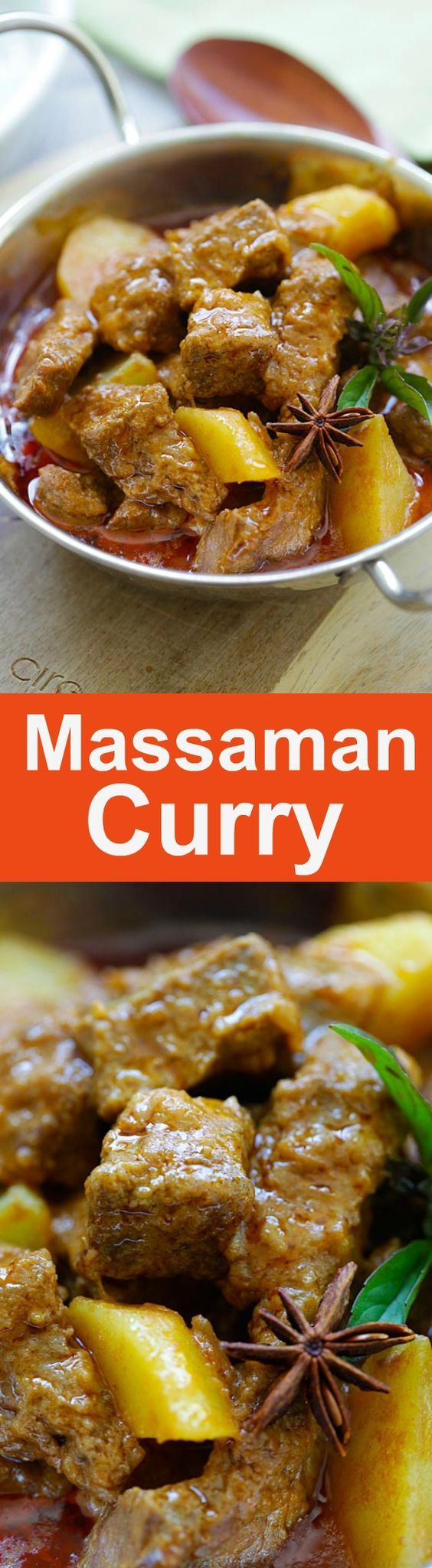 Beef Massaman Curry - crazy delicious Thai beef massaman curry. Learn how to make massaman curry with this easy and fail-proof recipe. from @rasamalaysia