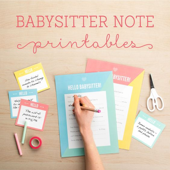 Babysitter Notes, Babysitters And Note On Pinterest