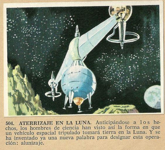 Album Historia Natural 1968  504 Aterrizaje en la luna