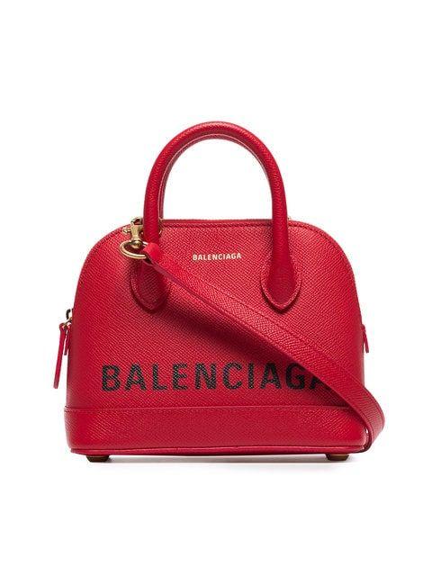 Balenciaga Red Ville XXS Leather Top