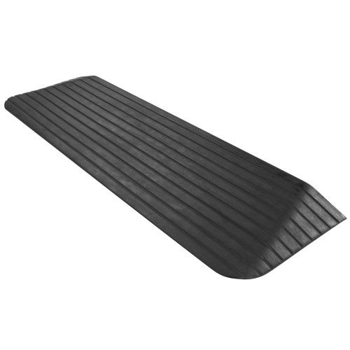 Silver Spring Solid Rubber Power Wheelchair Threshold Ramp 12 5 X 43 3 X 1 5 Black Threshold Ramp Rubber Ramp Powered Wheelchair