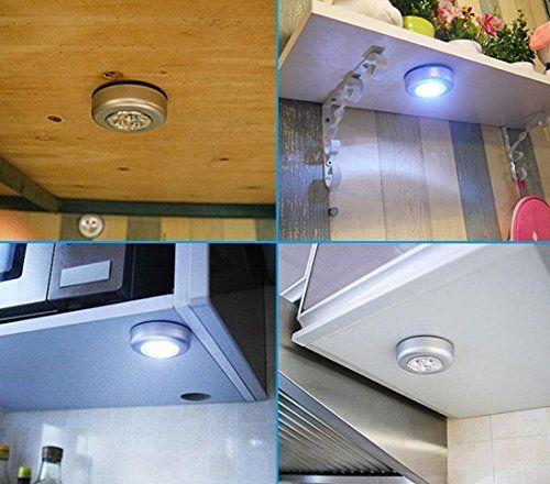 Nightlight Yjydada 2pcs Led Battery Powered Wireless Night Light Stick On Tap Touch Lamp Lights