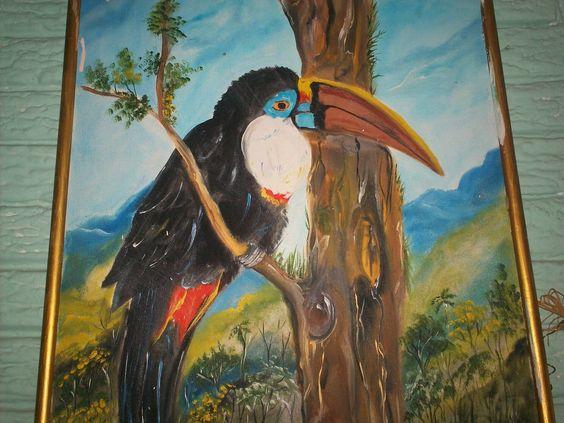 Mi pintura Tucán ave tropical