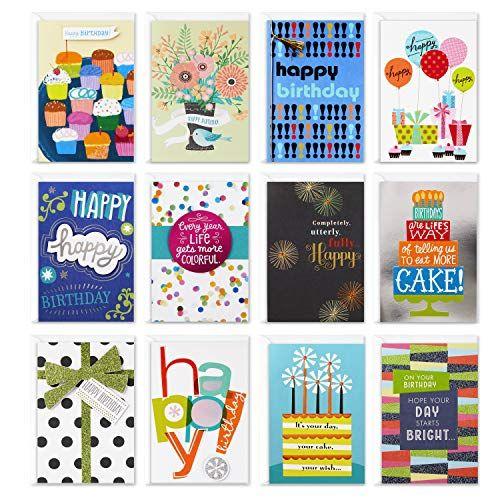 Hallmark Assorted Birthday Greeting Cards 12 Cards And Envelopes Now 8 11 Hallmark Greeting Cards Greeting Card Packs Birthday Greeting Cards