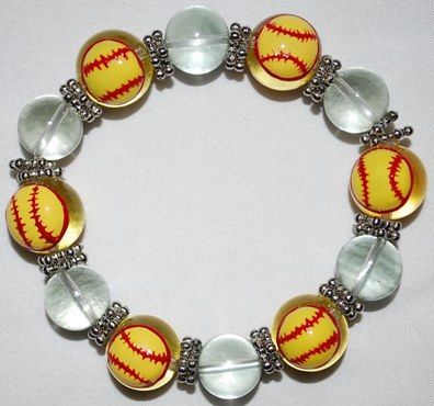 Cute Softball Bracelet