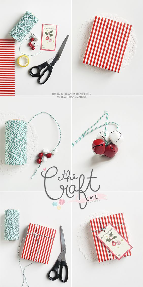 Ghirlanda di Popcorn   progetti creativi: #5 : Jingle bells package