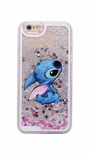 Glitter Liquid Stitch Chip Dale Mermaid Princess Fashion Cute Cartoon Hard Case Glitter Iphone 6s Ca Iphone Cases Disney Disney Phone Cases Cute Phone Cases