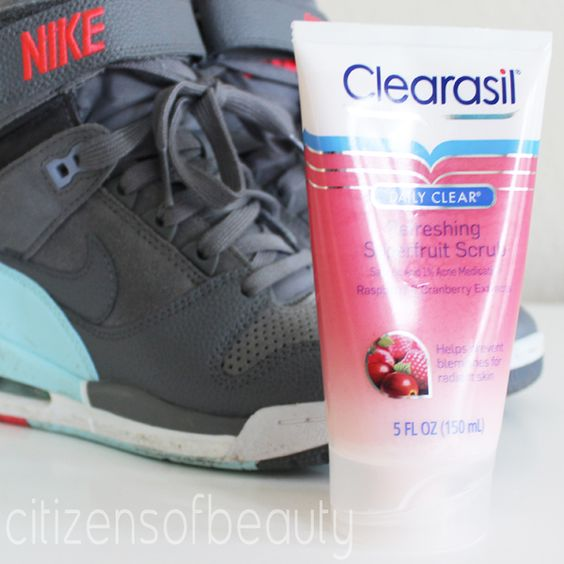 @Clearasil Daily Clear Refreshing Superfruit Scrub is great for a post workout #winningtheday #bblogger #scrubs #skincare