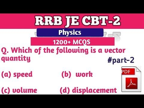 Rrb Je Cbt 2 Classes 1200mcqs Of Physics Most Important 1200