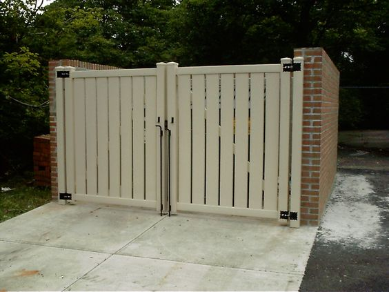 Good Looking Dumpster Enclosure Concrete Pad In Front