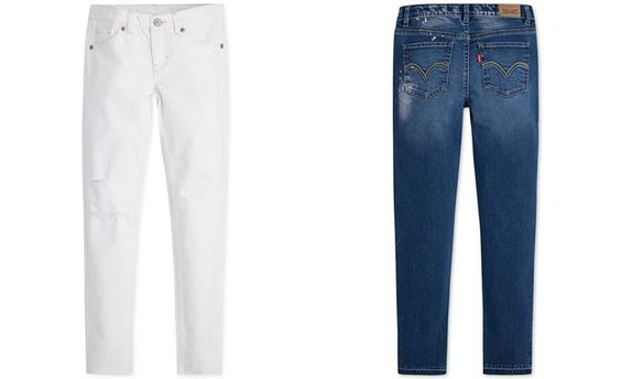 All the right style notes are here on these jeans by Levi's: ankle length, a…