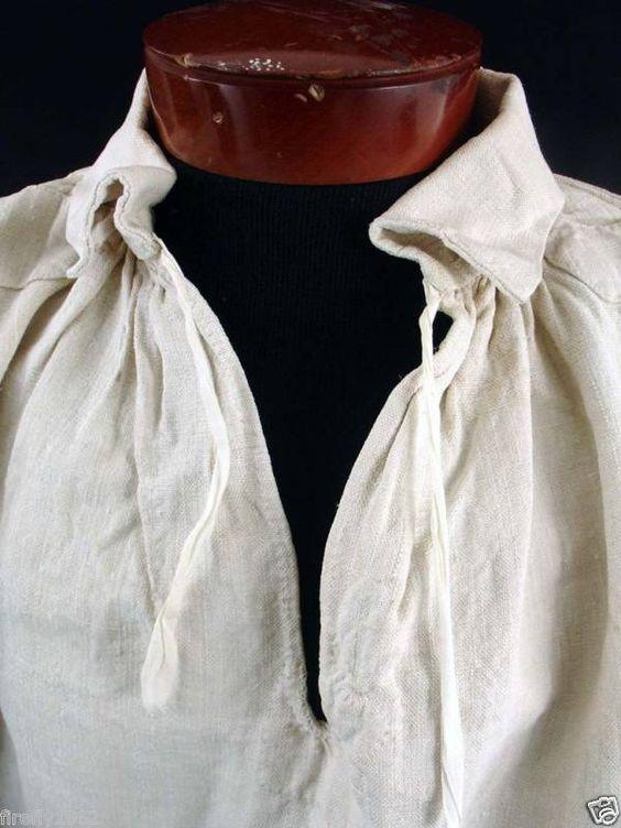 18th Century Men S Shirt Great Close Up Of Rolled Hem