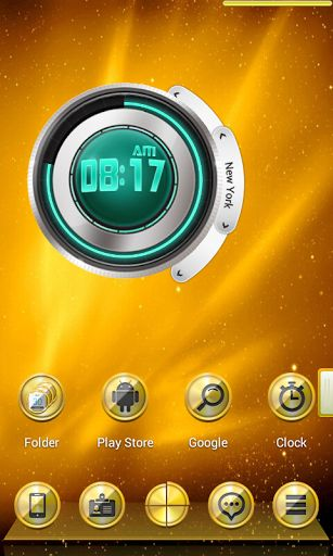 3D Golden Next Launcher Theme v1.0  Requirements: 2.2 and up  Overview: 3D Golden theme for Next Launcher 3D, very nice, simple and cool, enjoy:))