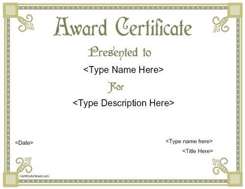 Business Certificate Elegant Award Certificate Template – Business Certificate Template