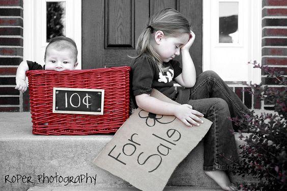 fun sibling photo: