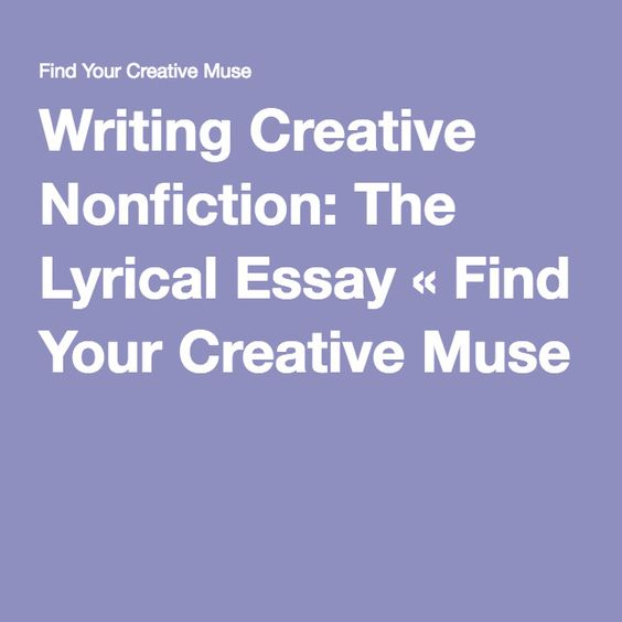 Lyrical essay