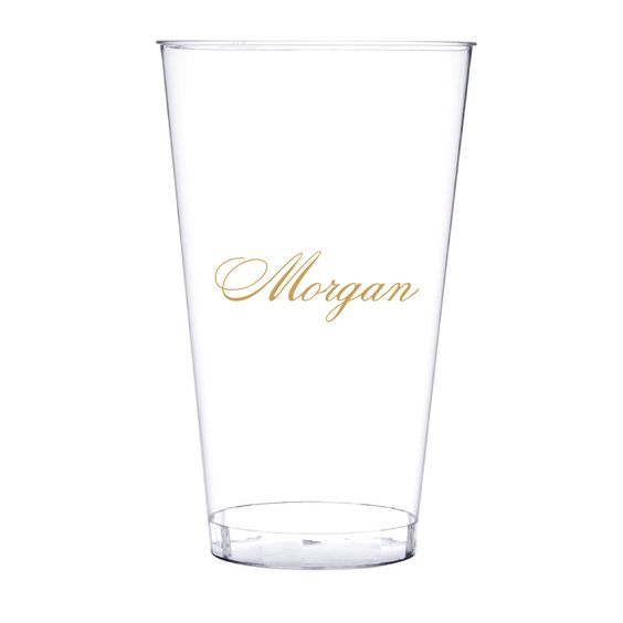 Name Personalized Clear Hard Plastic Cups