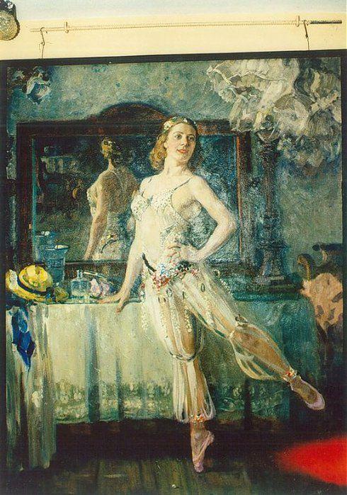 Alexander Gerasimov. - Portrait of a ballerina Olga Lepeshinskaya 1939
