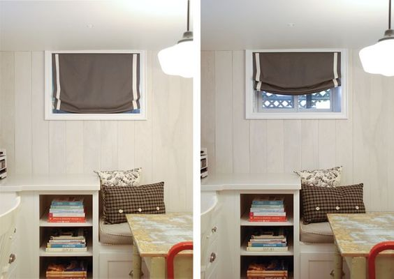 small basement window treatments google search. Black Bedroom Furniture Sets. Home Design Ideas