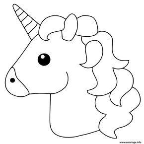 Coloriage Unicorn Emoji Dessin à Imprimer Licorne à