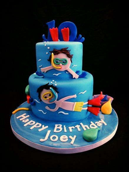 Pool Party Cake Cakes Pool Swimming Cakes Pinterest Boys Swimming And Cakes