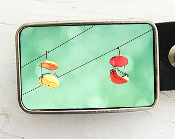 Off We Go Belt Buckle Carnival Ride Belt Buckle  by bmused on Etsy, $22.00